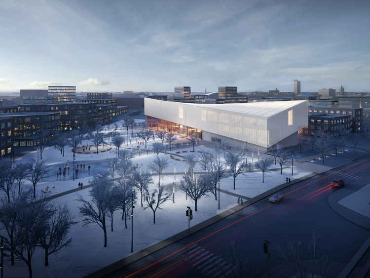 Henning Larsen Architects (Denmark) and MARK arhitekti. Image © Malcolm Reading Consultants