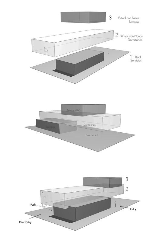 GRAFICA 3 Families - 3 Cubes / Chetecortes Architecture