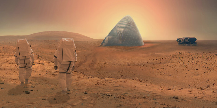 Clouds AO and SEArch won NASA's Mars Habitat Competition with a 3D-printed house made of ice; would Martian concrete have been a simpler option?. Image © Clouds AO and SEArch