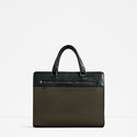 Olive Green Briefcase via ZARA