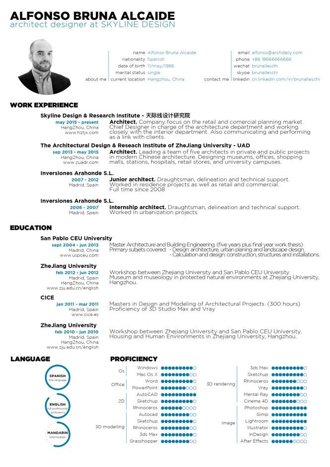 Architecture Internship Resume - Resume Sample