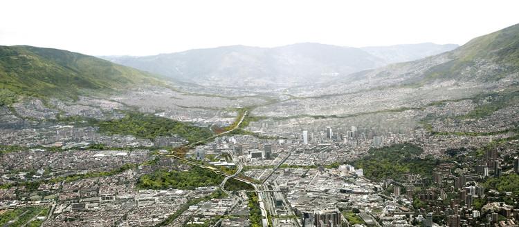 Parques del Río Medellín, Colombia. Vista aérea. Image © Plataforma Arquitectura