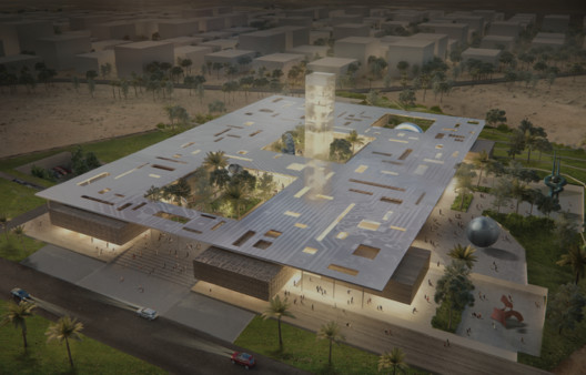 Honorable Mention: Whitespace Architects. Image via Bibliotecha Alexandrina / International Architectural Competition of the Science City