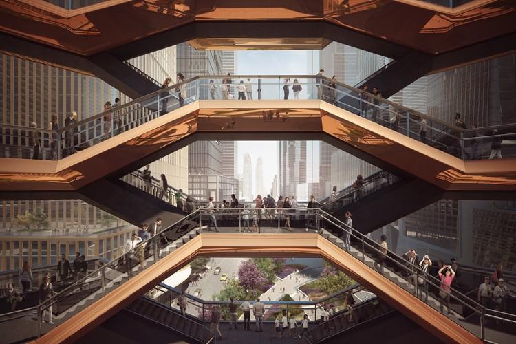 Upper Level View Through the Vessel. Image Courtesy of Forbes Massie-Heatherwick Studio