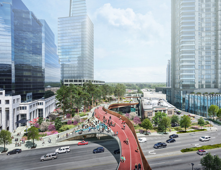 Courtesy of Roger Partners / Nelson Byrd Woltz. ImageView from Peachtree looking north