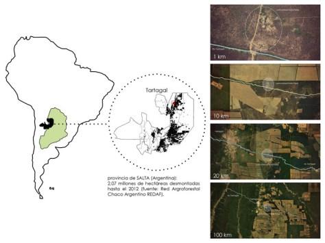 Territorio y deforestación. Image Cortesía de XhARA