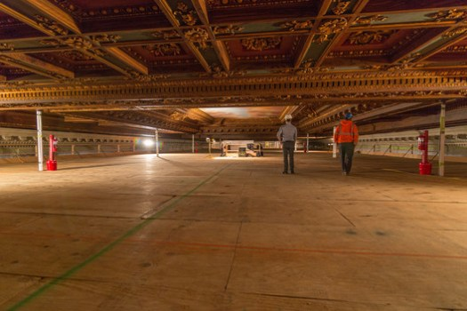 The Reading Room ceilings before restoration. Image © Jonathan Blanc / NYPL