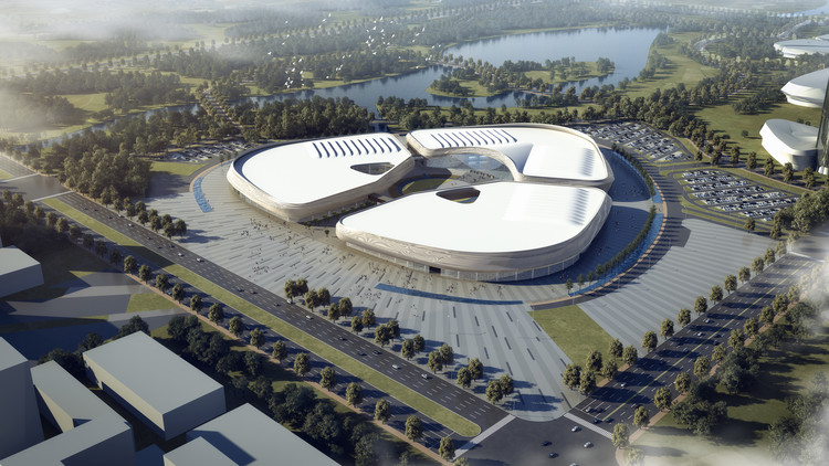 This Agricultural Expo Center in China is Not Only Inspired by Sesame Seeds But It is Shaped Like One, Courtesy of tvsdesign