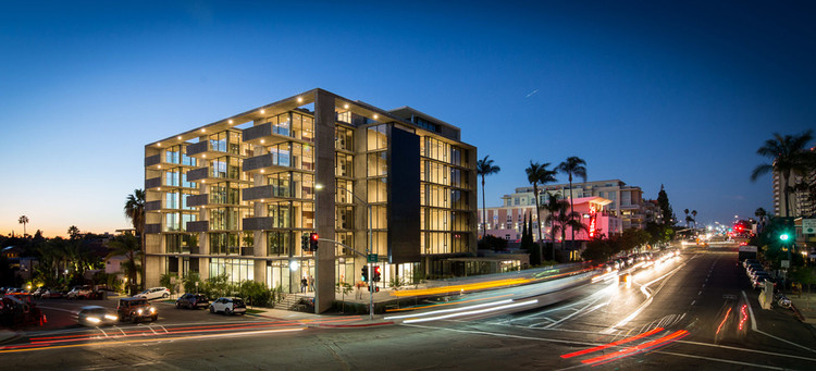 """Architects As Developers: The Pros & Cons, Jonathan Segal's newest mixed-use project called """"Mr Robinson"""" located in San Diego. Image © Jonathan Segal Architect"""