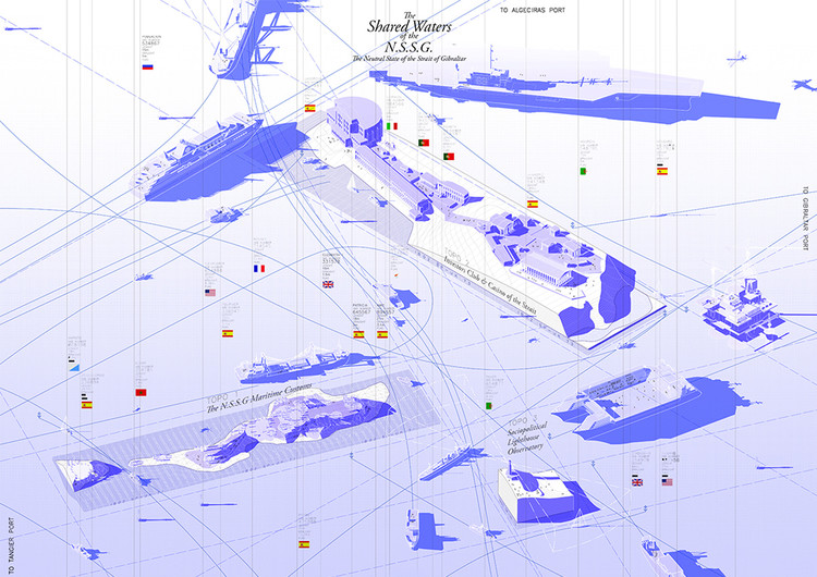 GeoFront. Strategic development plan for the frontier territories / Policarpo del Canto Baquera, Madrid School of Architecture, Polytechnic University of Madrid. Image Courtesy of Fundació Mies van der Rohe