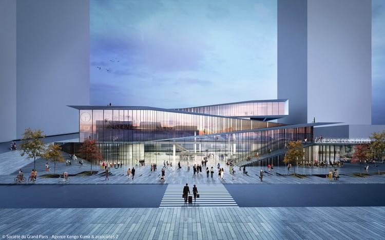 © Kengo Kuma & Associates - Société du Grand Paris / Gare Saint-Denis Pleyel (lines 15, 16 and 17) by Kengo Kuma & Associates
