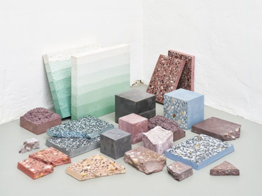 """<a href='http://www.archdaily.com/799062/studio-ossidiana-translates-elements-of-persian-gardens-into-lively-materials-exhibition'>""""Petrified Carpets,""""</a> an exhibit by Studio Ossidiana at the 2016 Dutch Design Festival. Image © Kyoungtae Kim"""