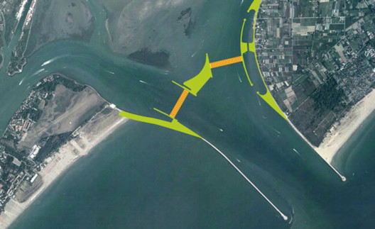 Lido Inlet of the MOSE Project. Image Courtesy of MOSE