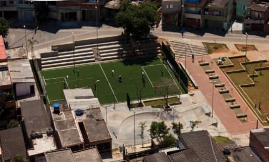 Parque Cantinho do Céu no bairro do Grajaú em São Paulo. Fuente: Soluções para as cidades