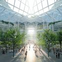 """The """"winter garden"""" at the center of the design will welcome arrivals from the London Underground. Image © Uniform"""