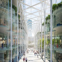 """The """"Galleria"""" will offer a promenade full of shops, restaurants and cafes. Image © Uniform"""