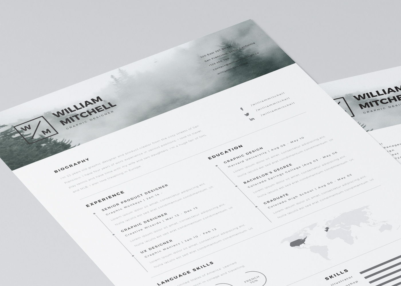 Free Resume Templates for Architects   ArchDaily Mats Peter Forss