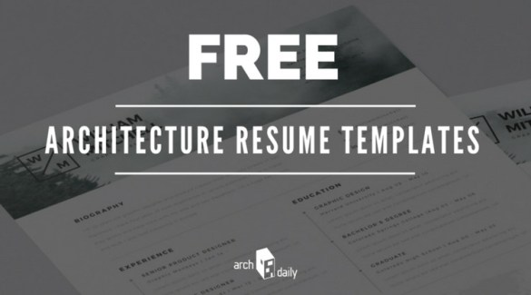 Free Resume Templates for Architects   ArchDaily Free Resume Templates for Architects