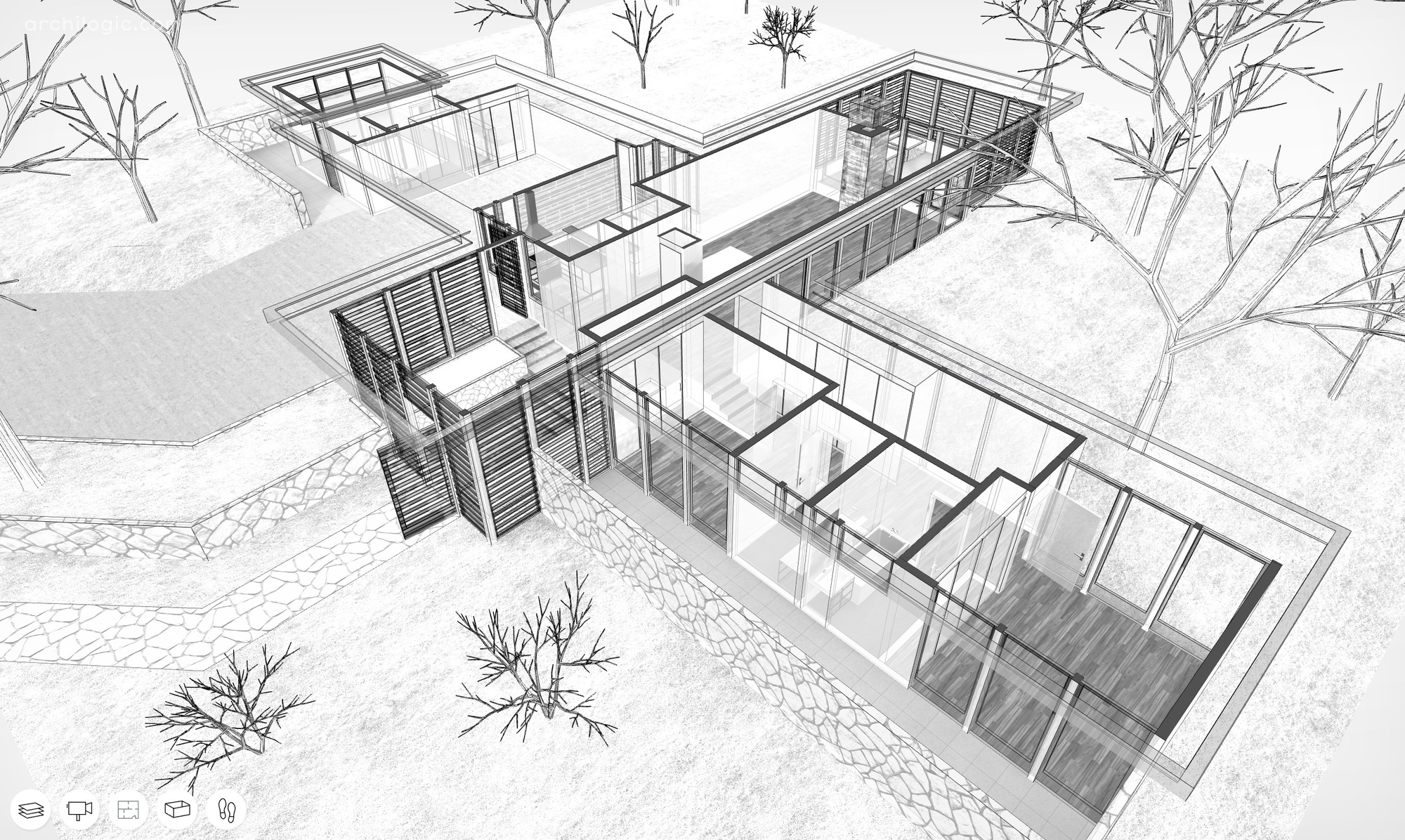 A Virtual Look Inside The Case Study House #12 By Whitney