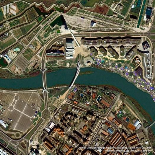 Puente Pabellón Zaragoza. Image © Deimos Imaging