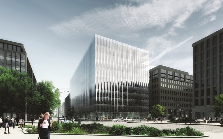 Offices: 2050 M Street, Washington, DC, USA, designed by REX Architecture for Tishman Speyer (completion expected 2019). Image Courtesy of The Architectural Review