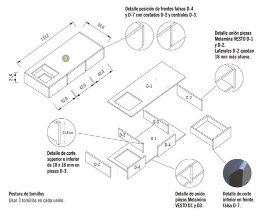 Módulo 1 / Mueble Inferior con Cajón