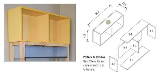 Módulo 2 / Mueble Superior con 2 Repisas