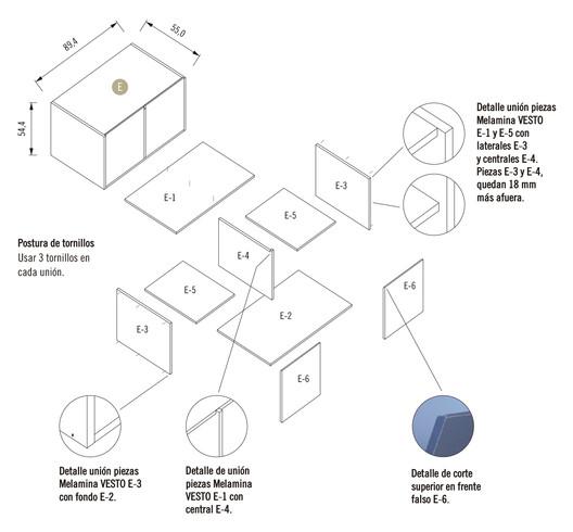 Módulo 2 / Mueble Inferior con Dos Puertas