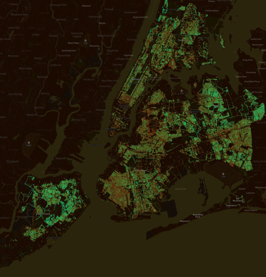 Treepedia New York City. Image Courtesy of MIT Senseable City Lab