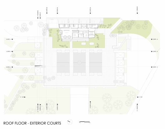Roof Plan - Exterior Courts