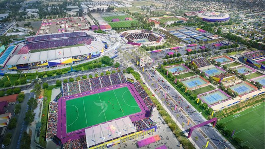 South Bay Sports Park - Tennis Center. Image Courtesy of LA 2024