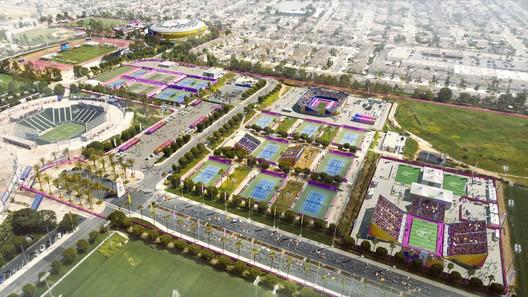 South Bay Sports Park - Field Hockey & Tennis. Image Courtesy of LA 2024