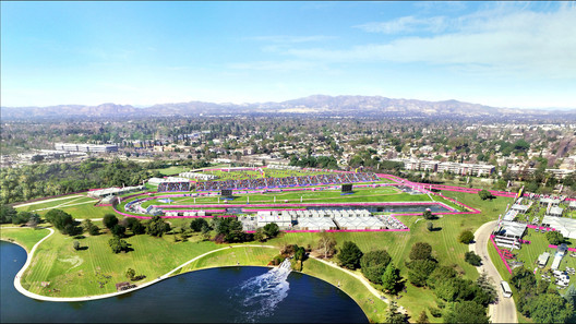 Valley Sports Park - Canoe & Kayaking. Image Courtesy of LA 2024