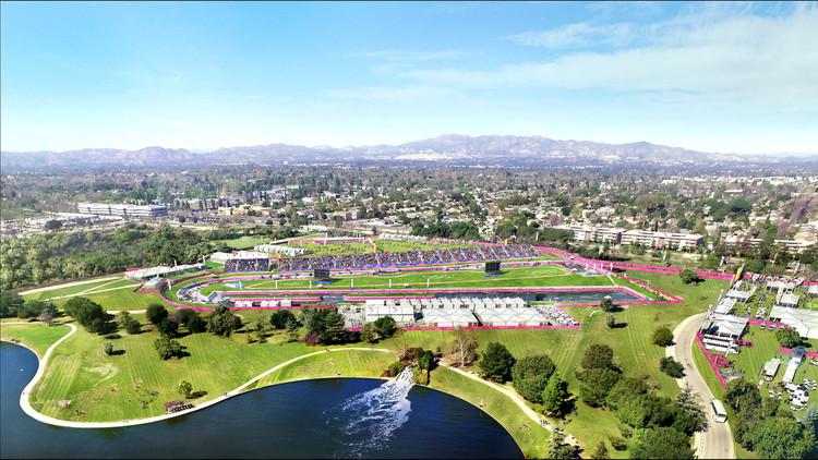 Valley Sports Park - Canoe & Kayaking. Image Courtesy of LA 2024