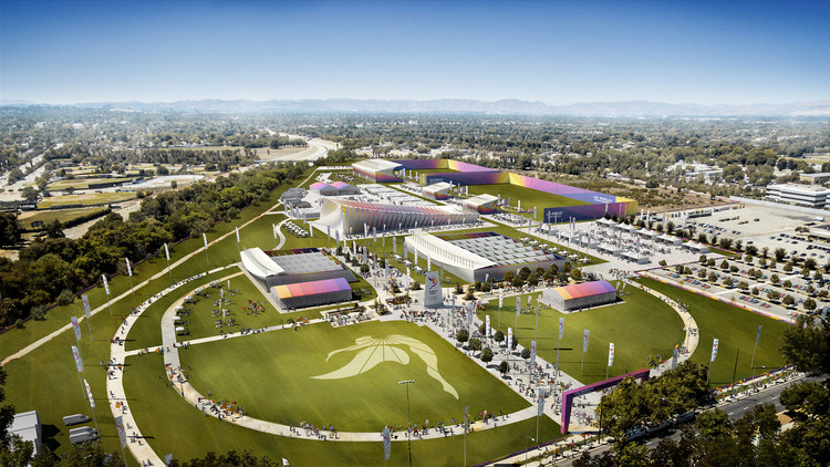 Valley Sports Park - Aerial. Image Courtesy of LA 2024