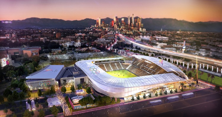 Downtown Sports Park - LA Football Club - Soccer. Image Courtesy of LA 2024
