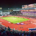 Downtown Sports Park - LA Coliseum - Track & Field. Image Courtesy of LA 2024