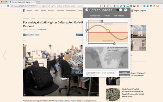 Screen Shader Chrome Extension. Image