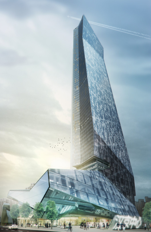 Hanking Center Tower in Shenzhen. Image Courtesy of Morphosis