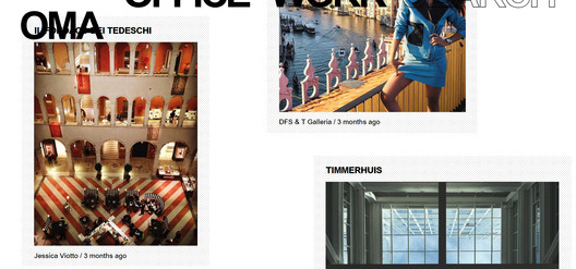 OMA's website shows Instagram photographs by users of their buildings. Image<a href='http://oma.eu'>via OMA</a>