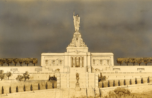Thomas Hastings and Daniel Chester French National American Indian Monument 1908. Image Courtesy of Metropolis Books