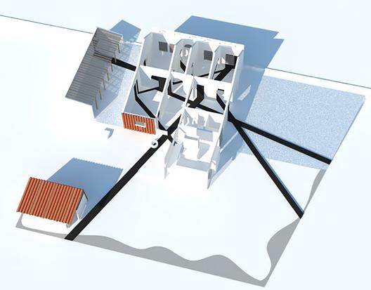 Axonometric. Image Courtesy of DAFDF