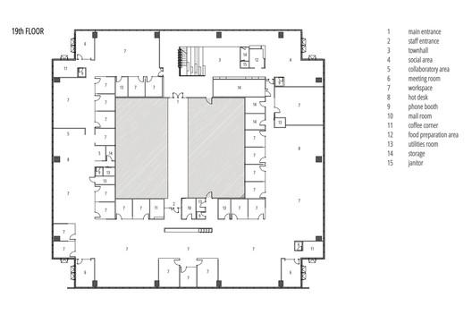 19th Floor Plan