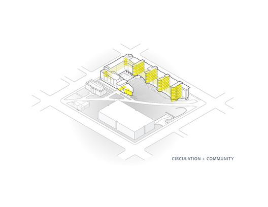 Circulation + Community Axonometric