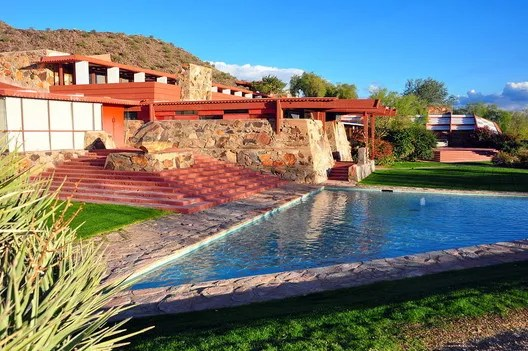 © Wikimedia user AndrewHorne licensed under CC BY 3.0. Image Taliesin West