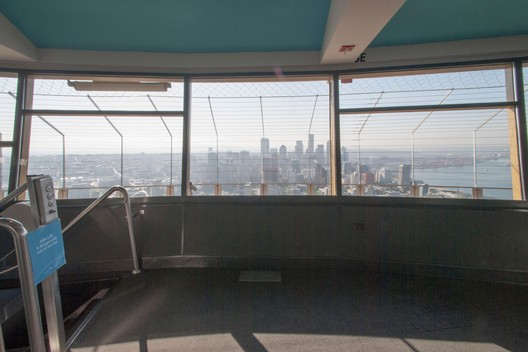 View from the Interior Observation Deck (before). Image Courtesy of Seattle Space Needle