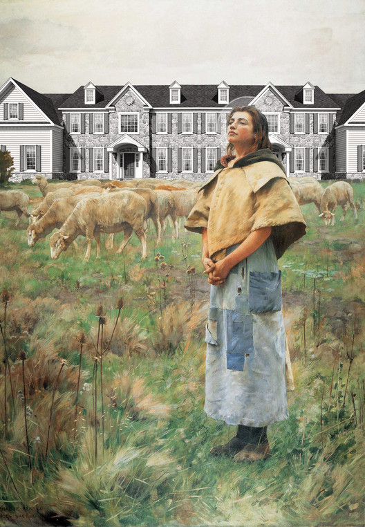 A Good Shepherd, Freedomland, after Sainte Genevieve by Charles Sprague Pearce, 1887. From Atlas of Another America: An Architectural Fiction (Park Books, 2016). Image Courtesy of Chicago Architecture Biennial