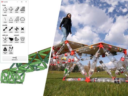 A bridge designed and fabricated with Trussfab. Image © Hasso Plattner Institute