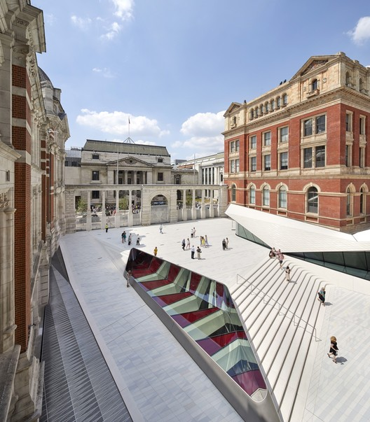 The Sackler Courtyard and Cafe, V&A Exhibition Road Quarter. Image © Hufton + Crow
