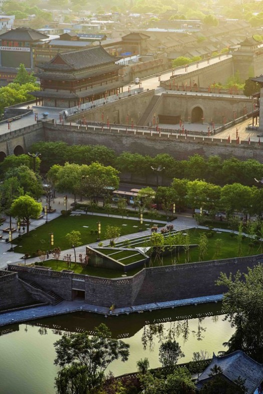 huacheng park. Image © Chen Su